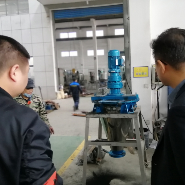 Korean customers come to our company to buy mixers