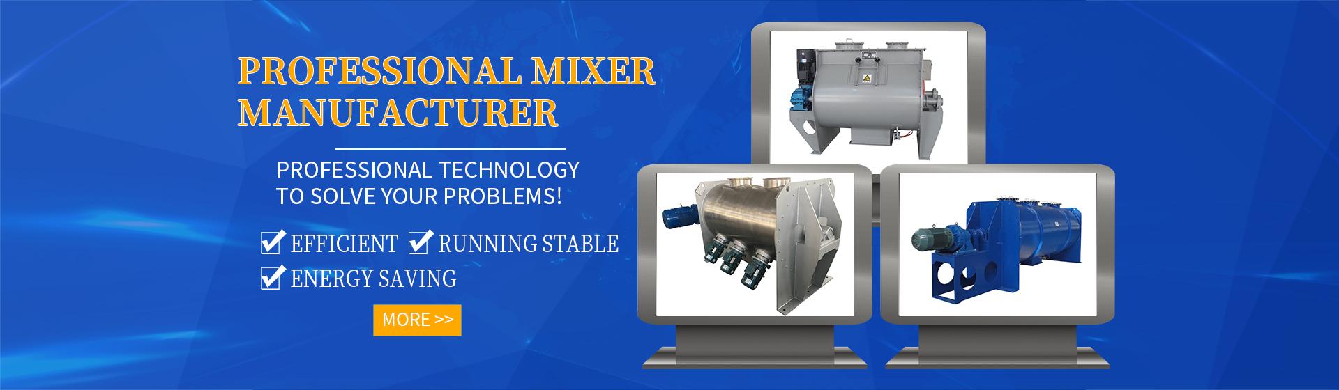 Mixer manufacturer, horizontal mixer, horizontal screw mixer